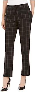 Kasper 女式黑色格子工装裤尺码 4