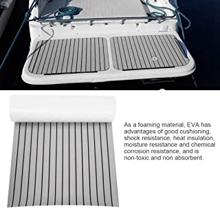 Qiilu EVA 泡沫人造柚木船甲板床单 238.76 厘米 x 89.94 厘米 x 0.64 厘米 船地板防滑海洋地板垫地毯地板垫船甲板板板适合游艇/房车地板床单