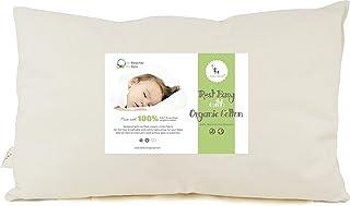 DorDor & GorGor 幼儿枕头,有机棉,象牙色,33.02x45.72 厘米
