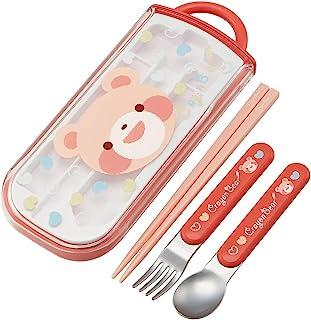 SKATER 斯凯达 便当用筷子 儿童用 三件套 筷子 汤匙 叉子 蜡笔熊 女孩 日本制造 16.5厘米 TCS1AM
