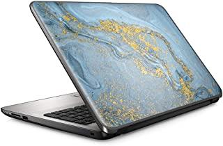 15 15.6 英寸笔记本电脑笔记本电脑皮肤乙烯树脂贴纸罩贴花适合 13.3 英寸 14 英寸 15.6 英寸 16 英寸 HP 联想 Apple Mac Dell Compaq Asus 宏碁/蓝金色白色大理石花岗岩
