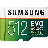 SAMSUNG EVO Select 512GB microSDXC UHS-I U3 100MB/s 全高清和 4K…