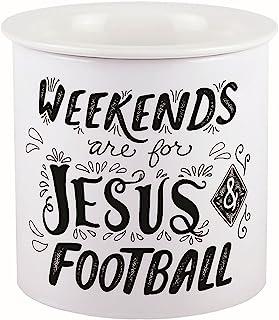 Carson Ceramic Dip Chiller (Jesus & Football)