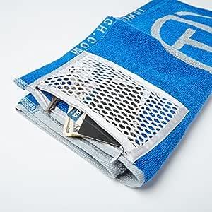 Towel Tech 带拉链口袋的磁性健身毛巾 | 天丝毛巾改善卫生 | *特性包括可拆卸磁铁、拉链网袋、颜色编码和桉树材料(2)