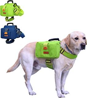 Kinleder 狗狗背包坚固涤纶背带背包,带 2 个大容量侧袋和可调节肩带,适合户外猎犬旅行露营徒步中大型犬