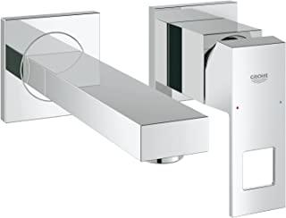 GROHE 高仪 Eurocube 浴室配件-双孔面盆龙头(壁挂式) 19895000,镀铬