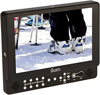 "Ikan D5w LCD 显示器,高清面板,含佳能 900,索尼 L,松下 D54 电池板VX9w-2 w/Canon E6, Nikon EL15, Panasonic G6 Plates 9"" LCD w/Scopes 黑色"