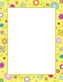 优质纸张! 复活节小鸡字母头,8.5 英寸 x 11 英寸,80 张 (2017029) 春花 80 Sheets