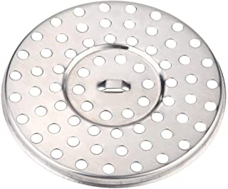 ViaGasaFamido 地漏过滤器屏幕银色不锈钢圆形小圆孔耐用强力过滤淋浴过滤器盖适用于浴室厨房卫生间