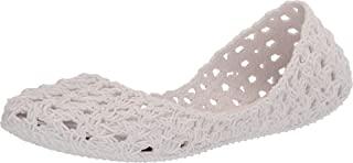 + Melissa Luxury Shoes 女式 x Campana 钩针平底鞋 黄色 8 X Campana Crochet Flat
