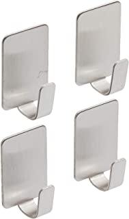 Command 17031ss-4es 不锈钢金属挂钩,带 5 条,小号,4 件装