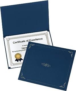 牛津证书夹,深蓝色,信纸大小,每包 25 个 (299235)