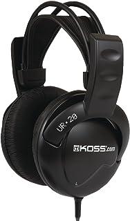 Koss UR20 头戴式耳机,柔性吊带头带,黑色