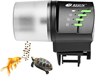 lychee 自动喂鱼器,100/200 毫升自动喂鱼器水族箱罐可调节计时器适用于假期周末假期(AF2020)