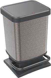Rotho, Paso, 垃圾桶 20 升,带防臭盖,塑料(PP)不含双酚A,六边形,20 升(29.3 x 26.6 x 45.7 厘米)