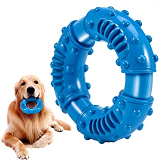 Feeko 狗狗咀嚼玩具 适合进攻性咀嚼 大品种 * 天然橡胶坚不可摧 狗狗玩具 坚韧耐用小狗咀嚼玩具 适合中型大型犬 - 咀嚼、追逐和抓取(蓝色)