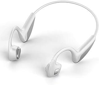 Bone Conduction 耳机 开放式耳机 带麦克风 蓝牙 5.0 立体声 户外运动耳机 自由耳朵 适用于跑步驾驶 健身(白色)