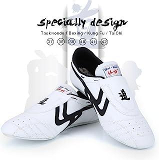 Taekwondo 鞋 武术运动鞋 拳击空手道功夫 Tai Chi 鞋 黑色条纹运动鞋 轻便鞋