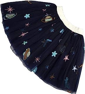 女童幼儿芭蕾舞短裙*蓝蕾丝裙,适合女婴迷你裙,适合1 – 9岁的溜冰者可爱的裙子