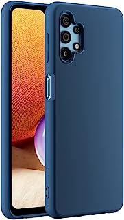 Cresee 兼容三星 Galaxy A32 5G 手机壳,超薄硅胶保护套,带超细纤维内饰防刮超薄贴合灵活手机壳 - 蓝色