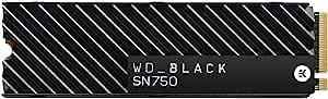 WD BLACK SN750 高性能内置游戏固态硬盘 NVMe 500GB,带散热器