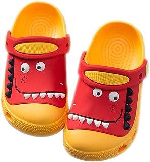 MOFEEDOUKA 儿童洞洞鞋,恐龙轻质男孩女孩室内户外海滩泳池幼儿凉鞋
