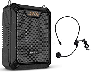个人声音放大器带麦克风耳机,25W 4400mAh 便携式防水语音放大器,适用于面具,可充电蓝牙 PA 扬声器系统,适用于户外、教师、导游、教练
