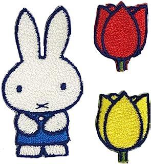 Minoda miffy and tulips 徽章 套装 D02Y1692 白色