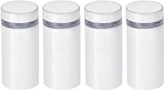 uxcell 1.27 厘米直径。 x 1-1/16 英寸(12x27 毫米)立式螺丝壁挂标志架亚克力玻璃钉白色 4 件