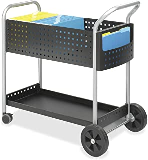 Safco Products Scoot Legal Size Mail Cart 5239BL 黑色旋转轮