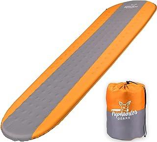 TRIPHUNTER GEARS 安静自充气睡垫,适用于露营背包旅行和徒步 - 即使是侧睡者也能舒适* - R Value 4.3 四季露营垫