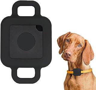 Tile Pro 2020/2018 狗项圈保护套支架,iZi Way 弹性橡胶防水保护套兼容瓷砖伴侣宠物猫美元宽 1.27 厘米 - 黑色