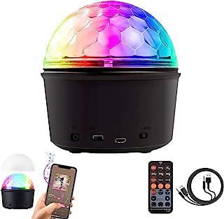 迪斯科灯,RUNNLY LED 夜灯投影仪蓝牙音箱声控,带遥控和 USB 线,9 色舞台频闪效果明星投影仪,适合儿童 / 派对 / 生日礼物 / 家庭影院