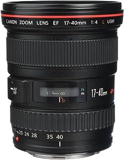 Canon 佳能 变焦镜头 EF 17-40 毫米 F4.0L USM 超广角 适用于 EOS (77 毫米滤镜螺纹,自动对焦)黑色