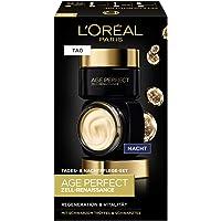 L'Oréal Paris 巴黎欧莱雅 金致臻颜修复系列 保湿锁龄再生活力面部护理套装 含日霜和晚霜,含黑松露和红茶,5…