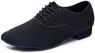 HIPPOSEUS 男士时尚圆头系带拉丁舞鞋探戈舞厅摩登爵士朗巴鞋,型号 Q703