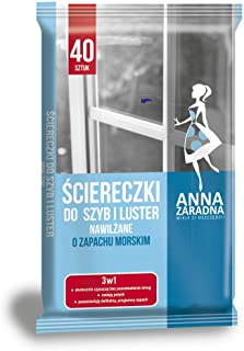 ANNA ZARADNA ST-AZ-030149 湿纸巾 镜片清洁湿巾 / 40 张带海洋芳香 / 适用于玻璃和镜子和镜面/欧盟制造
