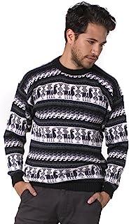 Gamboa - 男士羊驼毛衫 - 黑白