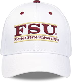 佛罗里达州立大学成人游戏栏可调节帽子 - 白色,
