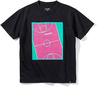 SPALDING 斯伯丁 篮球 青少年T恤 游戏场 平滑干燥 黑色 150厘米 篮球