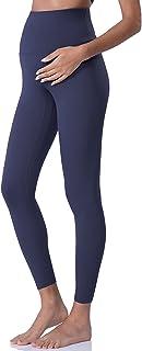 POSHDIVAH 女式裸体感觉孕妇打底裤腹部孕妇瑜伽裤运动服锻炼打底裤