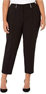 Kasper 女式加大码纽扣细节正装裤