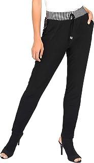 Joseph Ribkoff 黑色白色修身慢跑者丝滑针织裤- 款式 192917 尺码 14