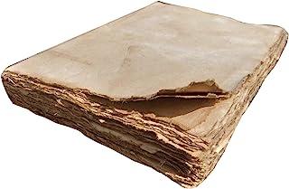 E-Tailor 仿古手工纸期刊可书写,男女礼物;日记,书法,素描绘画折纸等.144 张纸页-4x6 英寸