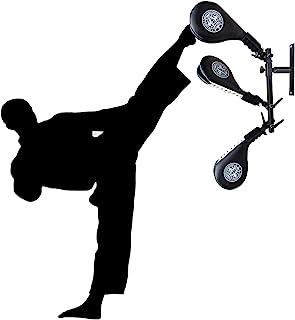 SYNTECSO 跆拳道踢垫靶子,3 件装踢垫,带壁挂式支架,免提打击垫,适用于跆拳道跆拳道和武术训练