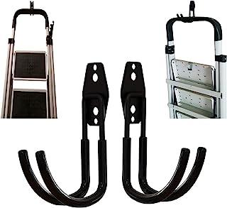 2 件折叠阶梯凳壁挂挂钩,伸缩壁挂式梯子挂钩,家用工程梯挂钩,伸缩梯子挂钩,适用于车库和棚架展示和储物梯工具(0 种)