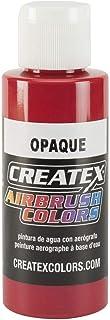 Createx 喷枪油漆,不透明红色,2 盎司 (5210-02)