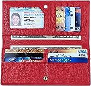 RFID 屏蔽钱包,适合女士修身, 红色,