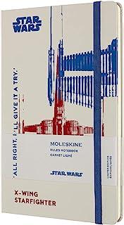 Moleskine - 星球大战笔记本电脑限量版 - 横格笔记本 - 主题 X-Wing - 精装主题图片和细节 - 尺寸 13 x 21 厘米,颜色白色,240 页