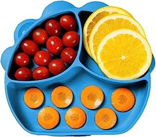 Baby Dröm 婴儿吸盘盘 适用于婴儿、幼儿、硅胶餐垫 适用于儿童,可粘在高脚椅托盘和桌子,婴儿餐盘 - 儿童餐盘